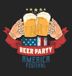 Beer party cheers america flag usa artwork vector