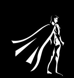 black and white of a superhero vector image