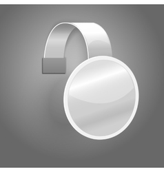 Blank white plastic wobbler isolated on grey vector image