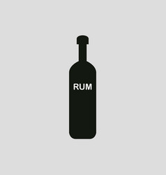 bottle rum icon vector image