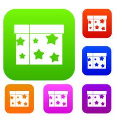 Box magician set collection vector