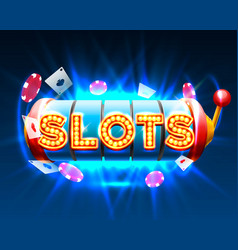 Casino slots jackpot 777 signboard vector