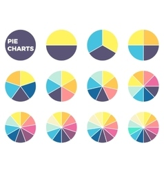 Charts for infographics Diagrams with 1 - 12 vector