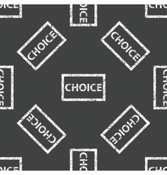 Choice stamp pattern vector image