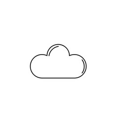 cloud outline icon vector image
