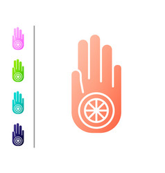Coral symbol jainism or jain dharma icon vector