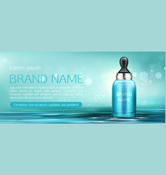 cosmetics cream bottle with pipette mock up banner vector image