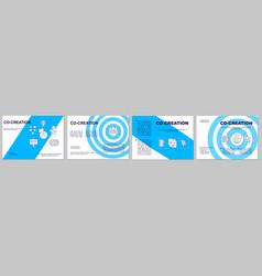 Customer co creation brochure template vector