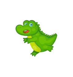 cute green bacrocodile cartoon character vector image