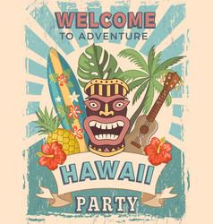 design template retro poster invitation vector image
