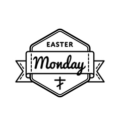 Easter Monday holiday greeting emblem vector