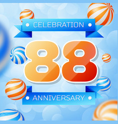 Eighty eight years anniversary celebration design vector