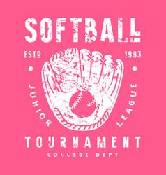 Emblem softball tournament vector