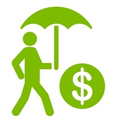 Financial insurance icon from Business Bicolor Set vector