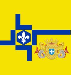 flag of lelystad of netherlands vector image