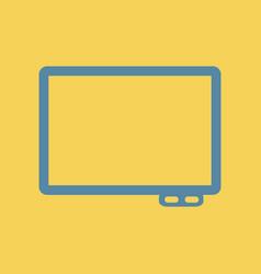 Flat icon interactive board vector