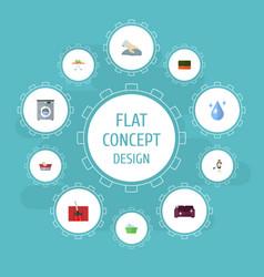flat icons clothes washing laundry laundromat vector image