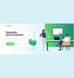 Flat modern design upgrade your business vector