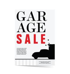 Garage sale poster vector