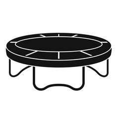 garden trampoline icon simple style vector image