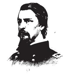 general winfield s hancock vintage vector image