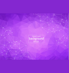 Geometric purple polygonal background molecule vector