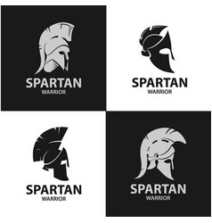 Greek and roman warriors helmets vector