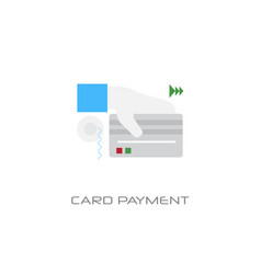 hand holding credit card payment concept line vector image