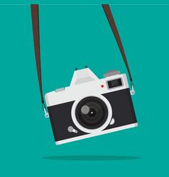 hanging retro camera vector image