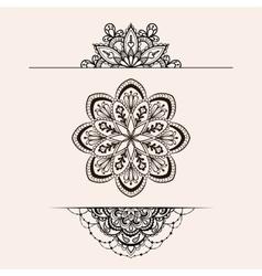 henna ethnic mandala set boho femine lace vector image