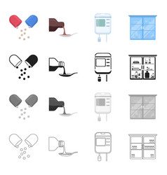 Hospital clinic pharmacy and other web icon in vector
