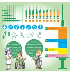 Info graphics medica cartoon vector