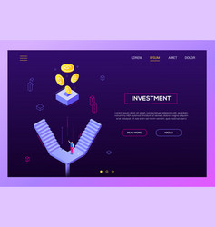 investment concept - modern isometric vector image