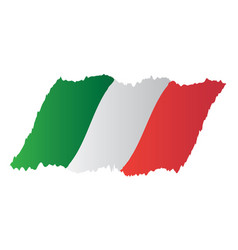 italy flag design vector image