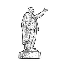 Lenin monument sketch vector