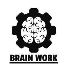 Logic brain work logo simple style vector