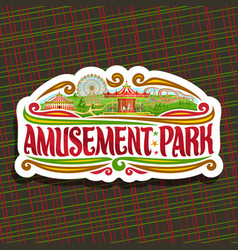 Logo for amusement park vector