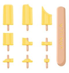 logo for natural vanilla ice cream vector image