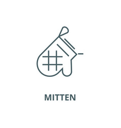 mitten line icon linear concept outline vector image