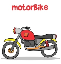 Motorbike of art vector image