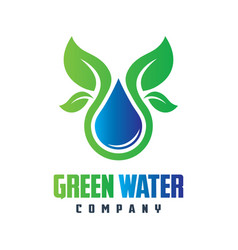 natural mineral water logo design vector image
