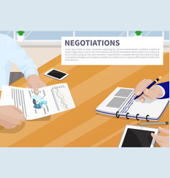 negotiation colorful banner vector image