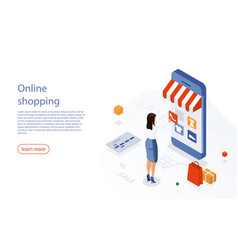 Online shopping ecommerce 24 hours customer vector