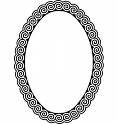 oval frame with a meander vector image