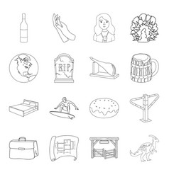 prehistoric finance sports and other web icon in vector image