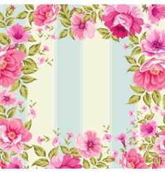 Roses floral wallpaper vector