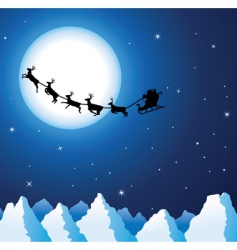 Santa and mountains vector image