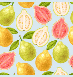 seamless guava fruits vector image