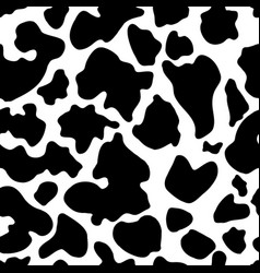 Seamless texture of cow hide vector