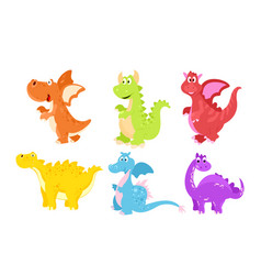 set colorful funny vector image